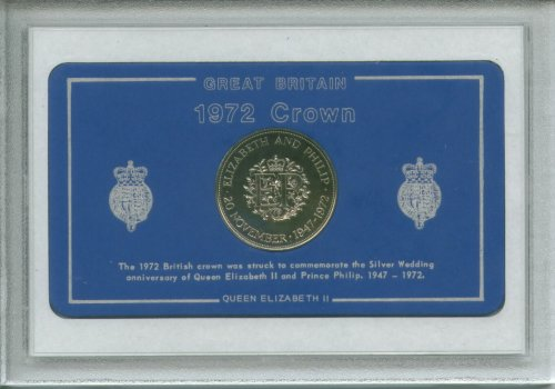 1972 GB Great Britain British Crown Coin Birth Year Vintage Retro Gift Set (48th Birthday Present or Wedding Anniversary)
