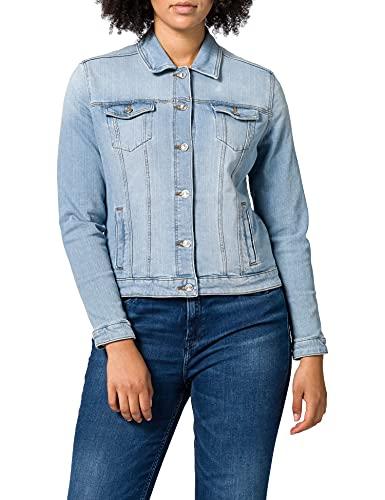 Springfield Chaqueta Vaquera Algodón Orgánico, Azul Medio, XL para Mujer