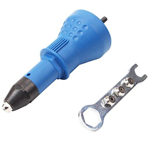 CCLIFE Profi Nietaufsatz Bohrmaschine Niet Aufsatz Blindnitvorsatz Blindnietaufsatz für Aluminiumnieten Edelstahlnieten