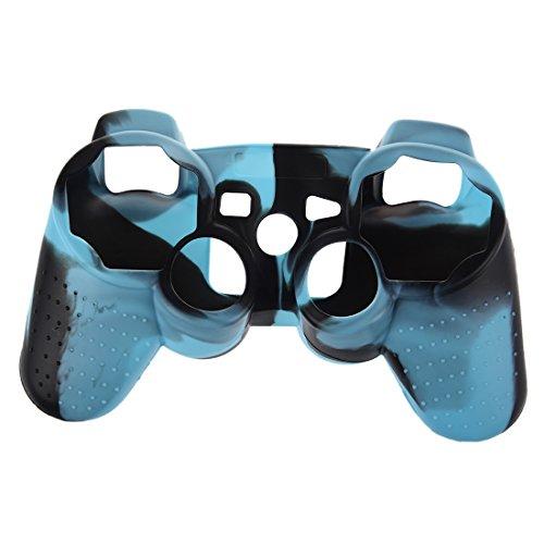 Lopbinte Funda Cubierta de Silicona Camuflaje para PS3/PS2 Controlador