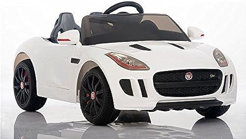 elige tu favorito Coche Electrico para Niños Auto Alimentado con con con Batería Vehículo Eléctrico Control Remoto - Jaguar F type - blanco  vendiendo bien en todo el mundo