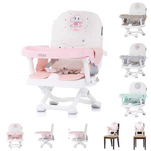 Chipolino - Trona de bebé con mesa plegable y desmontable, color rosa
