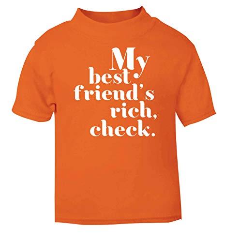 Flox Creative T-shirt pour bébé My Best Friends Rich Check - Orange - 1-2 ans