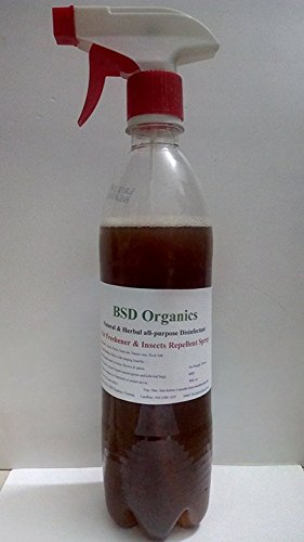 BSD Organics Natural Floral Air Freshener and Insects/Bed Bugs Repellent Spray (Home/Office/Car Etc.) - 700 Ml