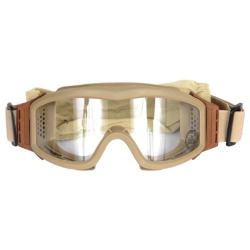 Lancer Tactical CA-201T Clear Lens Safety Airsoft Goggles (Desert Tan), Maxiumum Protection
