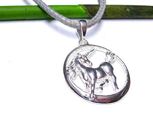 Diseño Llavero de unicornio de plata de ley gearbeitet esote eléctrico joyas
