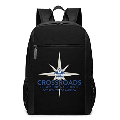 ZYWL Crossroads of America Council Laptop-Rucksack, Reiserucksäcke School College Bookbag für Frauen und Männer 17 Zoll