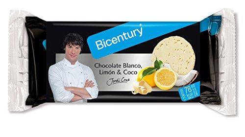 Bicentury Tortitas de Arroz Chololate Blanco, Sabor Limón y Coco, 132g