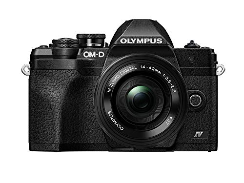 Olympus OM-D E-M10 Mark IV Black Body with Black M.Zuiko Digital ED 14-42mm F3.5-5.6 EZ Lens Kit