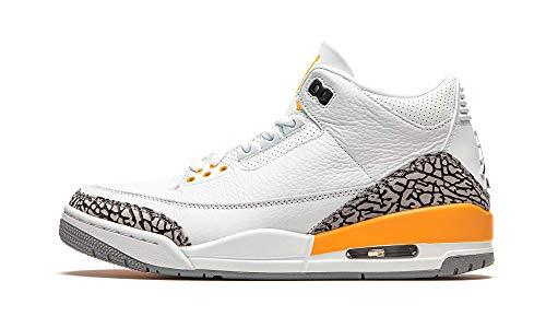 Nike WMNS AIR JORDAN 3 RETRO, Men's Basketball Shoe, White/Black-Laser Orange-Cement Grey, 6 UK (40 EU)
