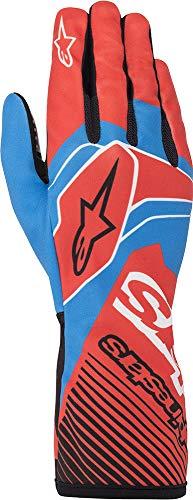 Alpinestars Tech-1 K Race v2 - Guantes de karting para hombre, color rojo y azul, 2XL
