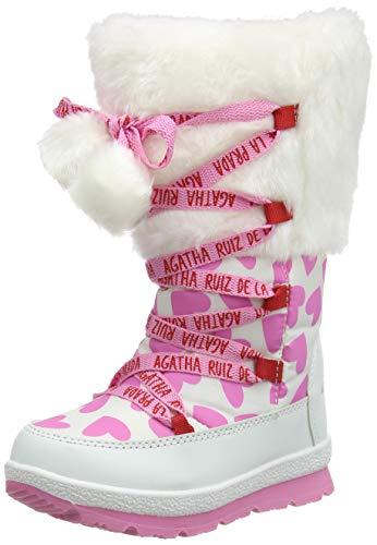 Agatha Ruiz de la Prada 201995, Botas para Nieve, Blanco (Textil), 32 EU