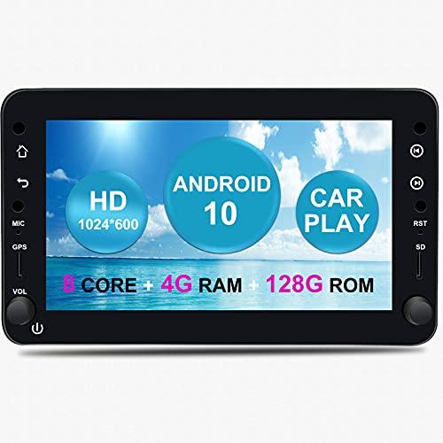Android Auto Radio Estéreo de Coche para Alfa Romeo 159 Spider Brera Sportwagon Android 10.0 Octa Core 4GB RAM 128GB ROM 7'Sistema GPS para Coche con CarPlay TPMS OBD 4G WiFi Dab + Bluetooth