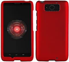 Droid Maxx Case, Red Rubberized Hard Shell Cover for Verizon Motorola Droid Maxx XT1080M, Droid Ultra XT1080
