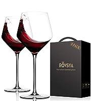 イタリアン手吹きクリスタルレッドワイングラス set of 4 レッド