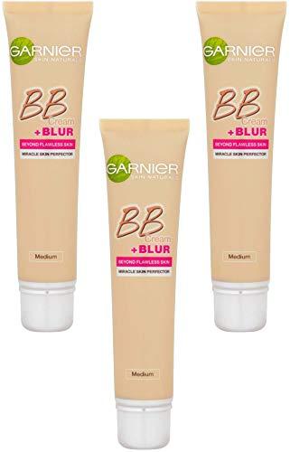 SkinActive - BB Crème + Blur Medium - Soin miracle perfecteur + base correctrice lissante - Ptiparis Lot de 3