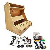 """TALENTEC Kit DIY para máquina recreativa de sobremesa de 24"""" en Madera DM + metacrilato acrílico + componentes. Botones de 30mm y Joystick de Tipo japonés"""