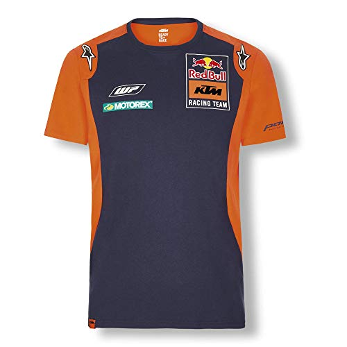 Red Bull KTM Official Teamline T-Shirt, Blau Herren Large T-Shirt, KTM Racing Team Original Bekleidung & Merchandise