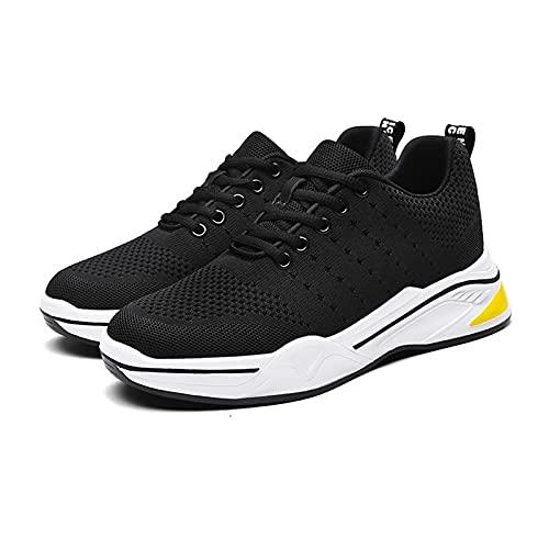 JUST ALONE Hombre Zapatillas Casual Deportivo Moda Antideslizantes Transpirable Cómodo (Color : Negro, Size : EU 39)