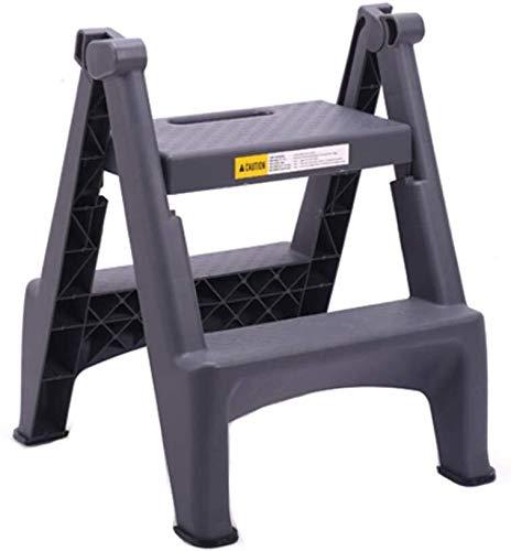 CHGDFQ Taburete de plástico para el hogar plegable pequeña escalera multifuncional portátil dos pasos escalera taburete interior engrosamiento espiga escalera