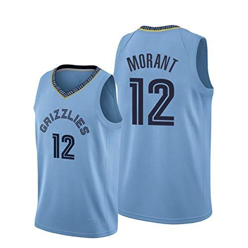 TTBBZ NBA Jersey Baloncesto Deporte Chaleco # 12 Grizzlies Ja Morant Ropa Deportiva al Aire Libre