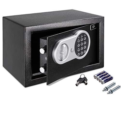Deuba Caja Fuerte Seguridad Safe Negro Cierre electrónico 20 x 31 x 20 cm código de Seguridad Suelo Pared hogar Oficina