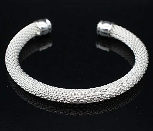 Designer Inspired nodo braccialetto maglie in solido argento Sterling 925placcato