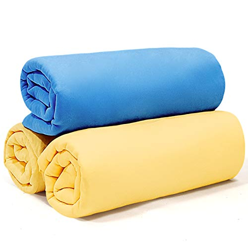 Car Drying Towel for Car Wash, 17'' x 13'', Super Absorbent Chamois Cloth for Car with Quick Dry Design, Durable and Multipurpose PVA Shammy Cloth for Car Cleaning, Dusting, Drying and Detailing