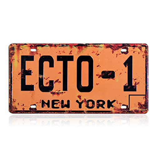 PEI\'s Ghostbusters Nummernschild, geprägte Nachbildung, Film-Requisite, Metall, geprägt, Vanity Nummernschild, 30,5 x 15,2 cm Ecto-1