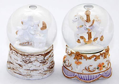 Minium Collection 20098-19457 2er Set mit notalgischen Motiven - auf romantisch gestaltetem Sockel Durchmesser 45mm