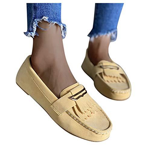 BIBOKAOKE Scarpe da vela da donna, mocassini, con nappe, per il tempo libero, scarpe da corsa, scarpe da ginnastica casual, slip on slips, traspiranti, da escursionismo