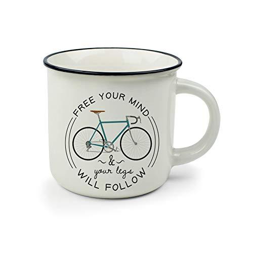 Legami Cup-Puccino Bike Tazza, Porcellana Bone China, Multicolore