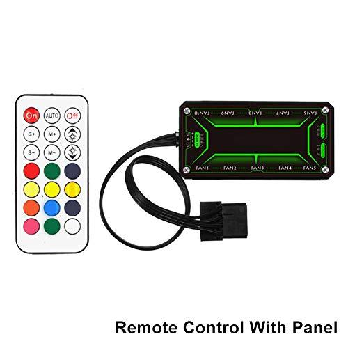 Alftek Computerbehuizing PC-ventilatorlichtbalk RGB LED-strips 120 mm ventilatorlicht aanpassen, Afstandsbediening met paneel.