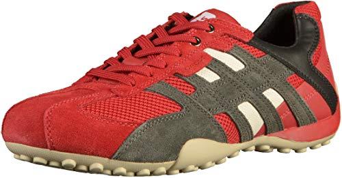 Geox Herren UOMO SNAKE K Sneaker, Rot (Red/Black C0020), 42 EU
