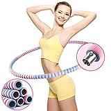 COFOF Hula Hoop Reifen Fitness Erwachsene, Abnehmbarer Hula Hoop Reifen mit Stabiler Edelstahlkern, Premium Schaumstoff, Gymnastikreifen für Fitness/Weight Loss/Massage