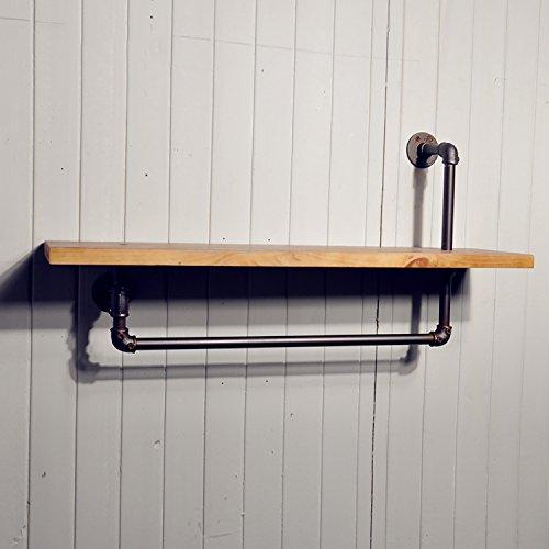 GJbgj Wandhalterung Regal Wand Dekorationen LOFT Vintage Wasserrohr Industrial Wind Regal Regal Wandregale