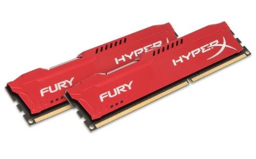 Kingston HyperX Fury Kit Memorie DDR-III da 8 GB, 2x4 GB, PC 1600, Rosso