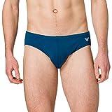 Emporio Armani Swimwear Brief Embroidery Logo Swim Briefs, Black, 3XL para Hombre
