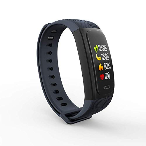 Four Smart Hand Ring GPS-Positionierung, Fitness-Tracking-Blutdruck-Step-Instrument Sportarmband Smart Reminder (Schwarz)