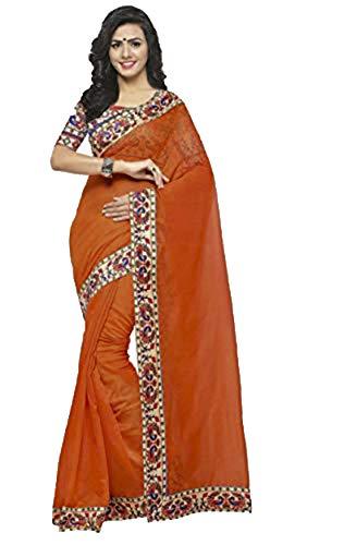 Disfraz de bollywood indio para bodas de India, estilo sareado, tnico indio, para mujer, informal, de cumpleaos, cosecha, top para nias, de estilo tradicional Orange 2 Talla nica