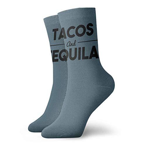 N/A Business Socken,Anzug-Socken,High Performance Kurzsocke,Tennissocken,Tacos & Tequila Herren Damen Langlebige Sport-Sport-Socke Zum Wandern Wandern Erholung