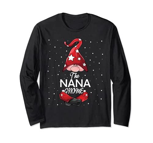Familia a juego Camisetas de Navidad Regalo Divertido Nana Gnome Manga Larga