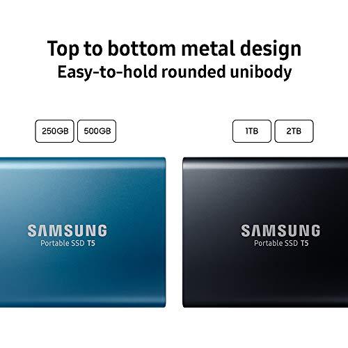 Samsung T5 Portable SSD - 2TB - USB 3.1 External SSD (MU-PA2T0B/AM), Black