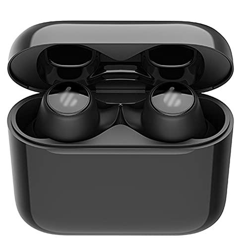 HJFGIRL Auriculares inalámbricos Bluetooth 5.0, Auriculares Dual Dynamic Drives APTX IPX6 Audio Sonido Estéreo Cancelación de Ruido CVC 4-Micrófono Control Táctil USB-C,Black