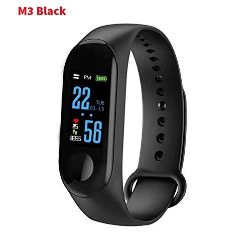 Reloj inteligente de pulsera para hombre, correa de reloj, deportivo, resistente al agua, reloj de actividad física, tensiómetro, color negro