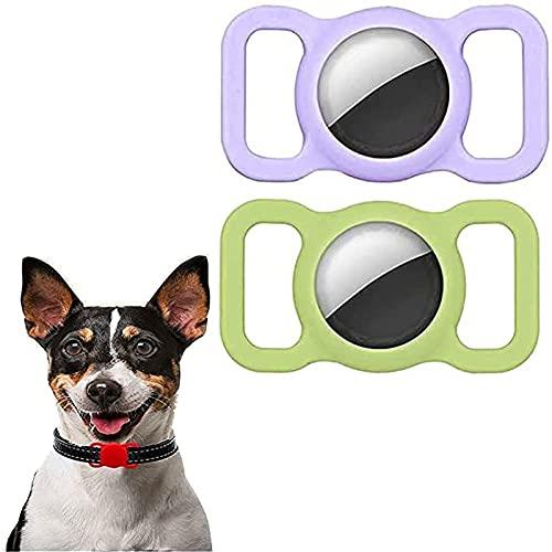 joyvio 2 Piezas De Funda Protectora De Silicona para Apple Airtag Pet Collar Loop - Rastreo GPS Ajustable Anti-Lost Locator Airtags para Collares De Niños para Niños Mayores (Color : E)
