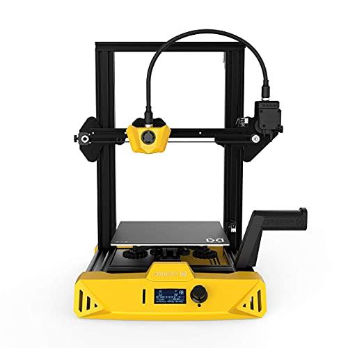 DEPFALL 3D Printers, 3D Extruder Printing Machine, DIY 3D Stereo Printer, Bowden Extruder 3D Laser Printer, 32bit Mainboard Multi-Function PLA ABS Wood PETG Large 3D Printer, 8.7x8.7x9.8inch, Yellow