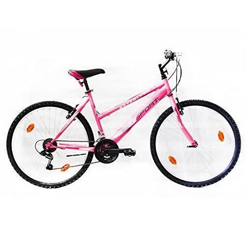 26 pulgadas Bike Sport Adventure - Bicicleta para joven, mujer Mountain Bike , 18 velocidades Shimano