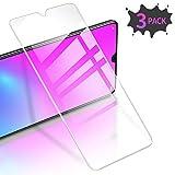 RIWNNI [3 Stück Panzerglas für Huawei Mate 20, 9H Festigkeit Panzerglasfolie, HD Klar Bildschirmschutz Glas Folie 0.25mm Ultra Dünn Schutzfolie Blasenfrei für Huawei Mate 20 - Transparent
