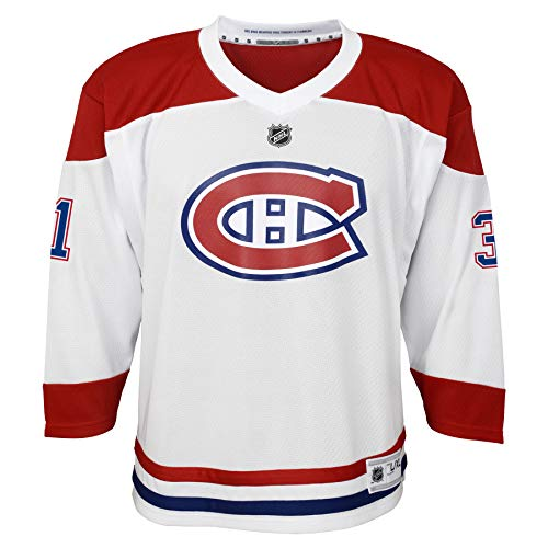 NHL by Outerstuff NHL Montreal Canadiens Youth Boys Carey Price Replica Jersey-Away, White, Youth Small/Medium (8-12)